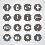 Hospital icons set Royalty Free Stock Image