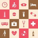 Hospital icons set Royalty Free Stock Photos