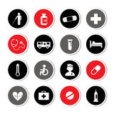Hospital icons set Royalty Free Stock Photography
