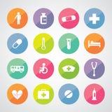 Hospital icons set Royalty Free Stock Photo
