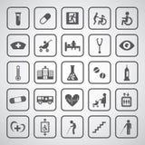 Hospital icons set Stock Photos