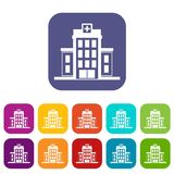Hospital icons set Royalty Free Stock Photography