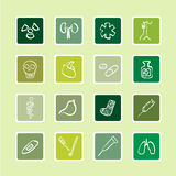 Hospital icons sticker series Royalty Free Stock Photo