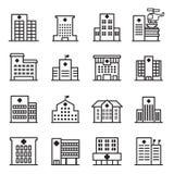 Hospital Icons. Vector Illustration Graphic Design royalty free illustration