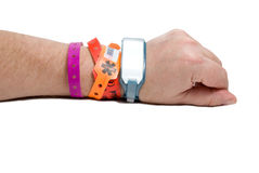 Hospital ID Bracelet Stock Image