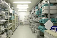 Free Hospital Indoor Storage Room. Health Center Repository Stock Images - 158910804