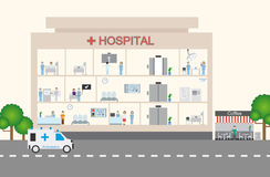 Hospital infographic & flat design Stock Photography