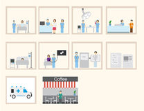 Hospital infographic & flat design Royalty Free Stock Photos