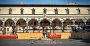 Monument of the renaissance. Hospital of Innocent Florencia Italia royalty free stock image