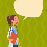 Hospital intermedio de las clínicas de la comunicación de la red del doctor Chat Bubble Social Imagen de archivo