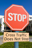 Hospital Intersection Stop Sign. With a clear blue sky background royalty free stock photography