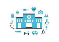 Hospital isolated Royalty Free Stock Photography