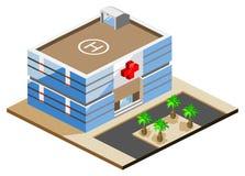 Hospital isométrico ilustración del vector