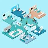 Hospital Isometric Icons Royalty Free Stock Images