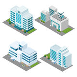 Hospital Isometric Icons Set Royalty Free Stock Photos