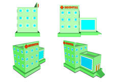 Hospital in isometric projection and design Flete Stock Photography