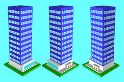 Hospital in isometric projection and design Flete Stock Photos