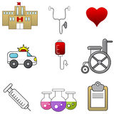 Hospital Item Set Royalty Free Stock Image