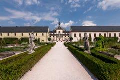 Hospital Kuks, near Hradec Kralove. Chateau, castle stock photos