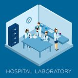 Hospital Laboratory Concept Royalty Free Stock Images