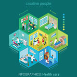 Hospital laboratory interior vector isometric medicine concept Royalty Free Stock Images