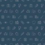 Hospital line icon pattern set Stock Photo