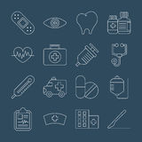 Hospital line icon set Royalty Free Stock Photography
