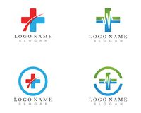 Hospital logo vector icons.  royalty free illustration