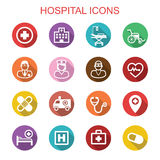 Hospital long shadow icons Royalty Free Stock Image