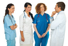 Hospital manager talking with doctors Stock Photo