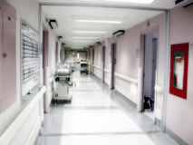 Hospital Maternity Ward Hallway Stock Photo