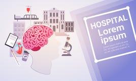 Hospital Medical Application Health Care Medicine Online Web Banner. Vector Illustration Stock Photos