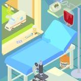 Hospital medical chamber concept, cartoon style Royalty Free Stock Photo