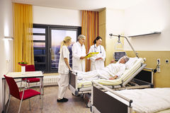 Hospital medical consultation patient. Hospital doctor's visit with sick patient Stock Images