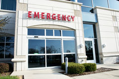 Hospital Medical Emergency Room Health Care, Aid. Emergency room entrance to a hospital. This is where a patient who needs first aid or immediate health care Royalty Free Stock Photography