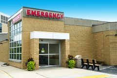 Hospital Medical Emergency Room Health Care, Aid. Emergency room entrance to a hospital. This is where a patient who needs first aid or immediate health care royalty free stock photos