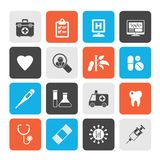 Hospital, medical and healthcare icons. Vector icon set vector illustration