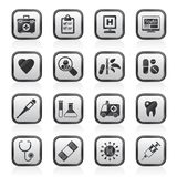 Hospital, medical and healthcare icons Royalty Free Stock Photos