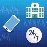 Hospital medical service online 24-7. Illustration eps 10 Stock Images
