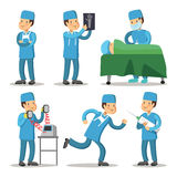 Hospital Medical Staff Character. Surgeon Doctor Cartoon Stock Image
