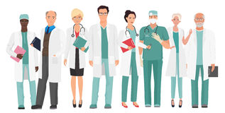 Hospital medical staff Team doctors together. Group of doctors and nurses people character set. Hospital medical staff Team doctors together. Group of doctors Royalty Free Stock Photos