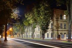 Hospital militar na noite Fotos de Stock Royalty Free