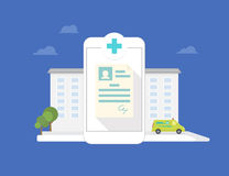 Hospital mobile application Royalty Free Stock Photography