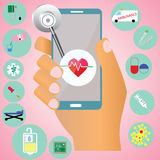 Hospital no móbil Imagem de Stock