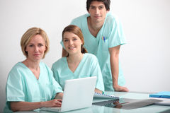 Hospital nurses station Royalty Free Stock Image