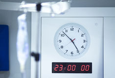 Hospital operating room clock Stock Images