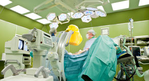 Hospital operation scanner Stock Photo