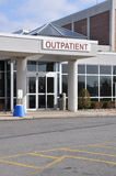 Hospital outpatient entrance Stock Photography