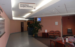 Hospital outpatient surgery. Waiting room Royalty Free Stock Photo
