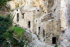 Hospital para sofredores do praga em 1630 fotografia de stock